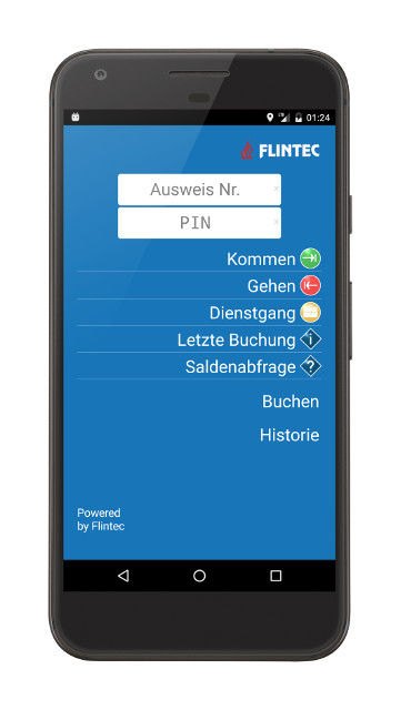 Flintec mobile Zeiterfassung: Android App